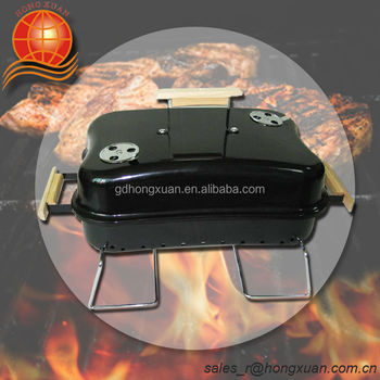 Square Portable Barbecue Grill Folding Charcoal Bbq Grill