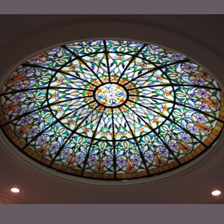 Decorative Building Stained Gl Design Skylight Dome For Ceiling
