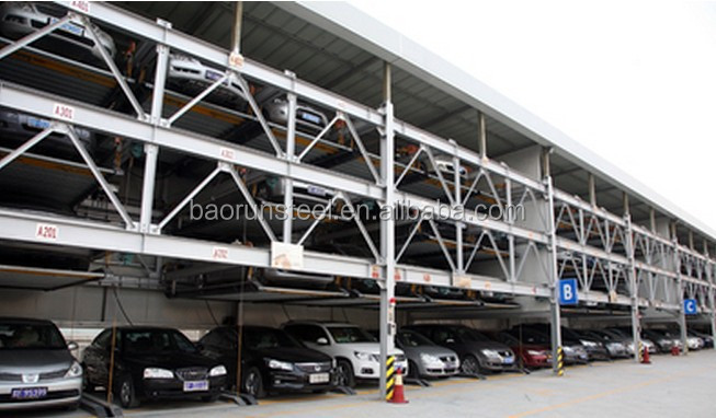 metal frame weldding steel structure parking car garage