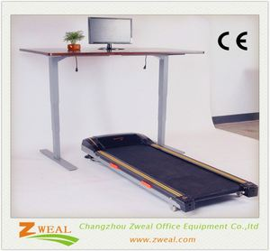 crank base adjustable drawing table the uplift electric sit-stand office desk
