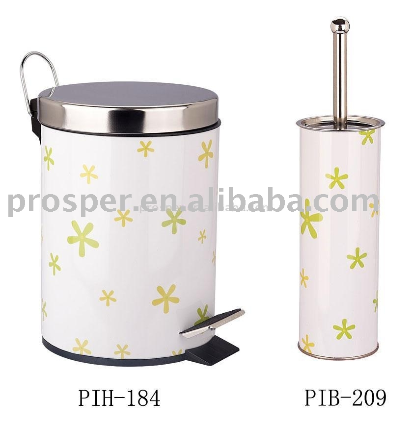 Step Bin & Toilet Brush Holder