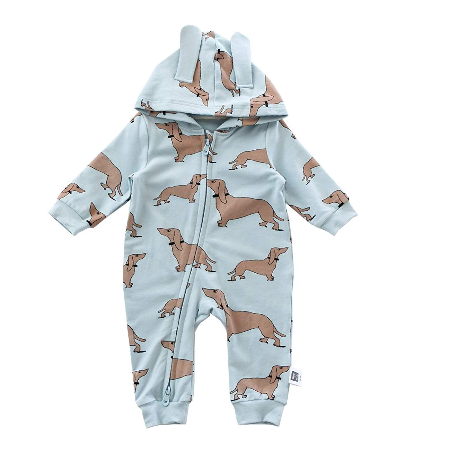 458bd161c4ce2 Get Quotations · Baby Jumpsuits Cotton Cute Cartoon Dog Pattern Rompers