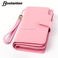 Pink Real Genuine Leather Clutch Purse Women Wallet High Quality