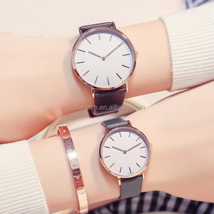 Hot OEM design genuine leather wrist watches cheap watches women