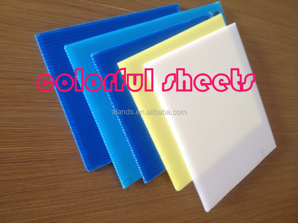 Colored Pp Corrugated Plastic Sheet In China Alands
