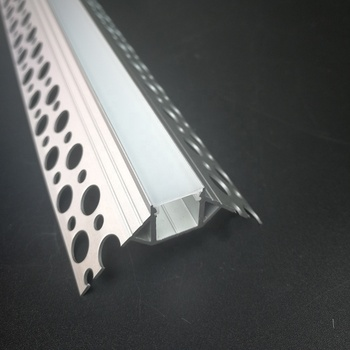 Recessed corner Aluminium led profile  for drywall use with holes on the flange
