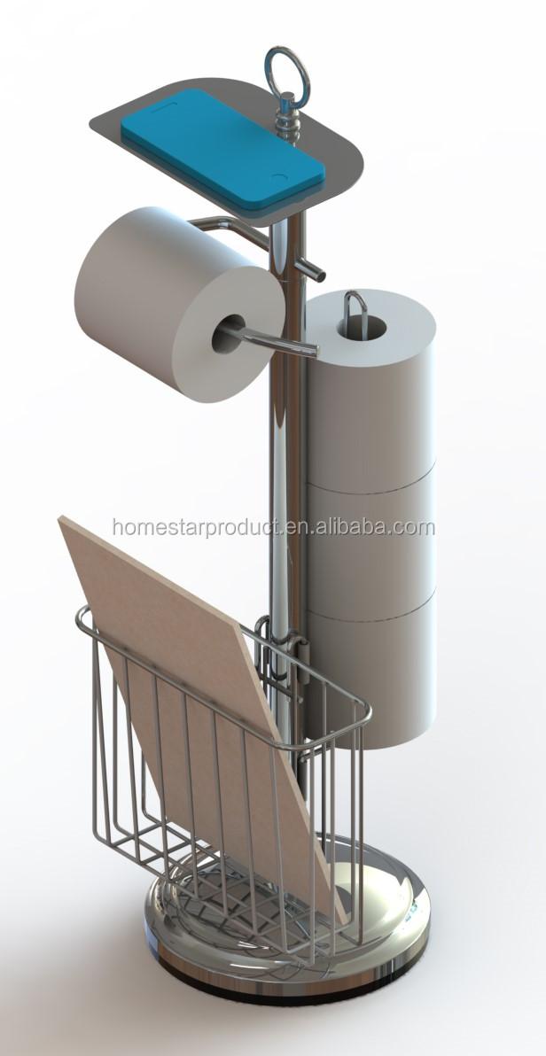 AuBergewohnlich Freistehenden Toilettenpapierhalter Für Badezimmer Mit Regal Bronze