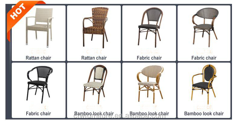 All-weather French Stylish Rattan Bistro Chair Cafe Chair