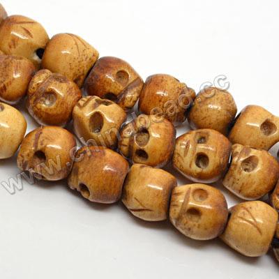 Wholesale Skull Beads Carved Bone Brown Skull Bead Buy Wholesale Skull Beads Product On Alibaba Com