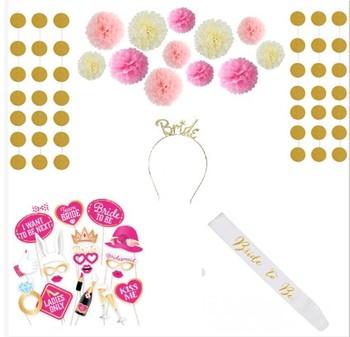 Bachelorette party supplies bride to be sash -photo props -paper