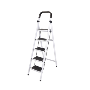 Folding 4 step ladder heavy duty capacity chairs industrial lightweight 5-Step Iron ladder black home tool ladder