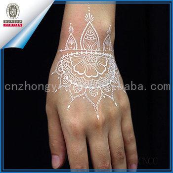Bridal Set Sementara Putih Henna Tato Untuk Tangan Mehndi Tato
