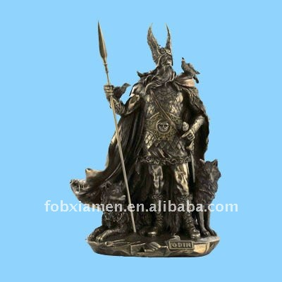 resin mythology viking figurine