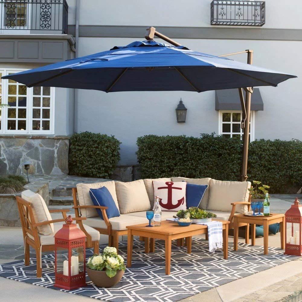 Get Quotations · Patio   Umbrella Outdoor, Round, Crank Lift, Adjustable  Auto Tilt. Best Sun