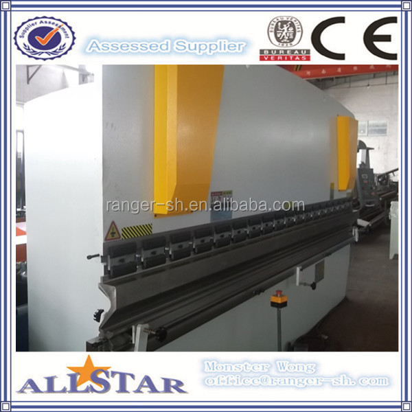 CNC hydraulic steel plate brake press , sheet metal cutting and bending machine
