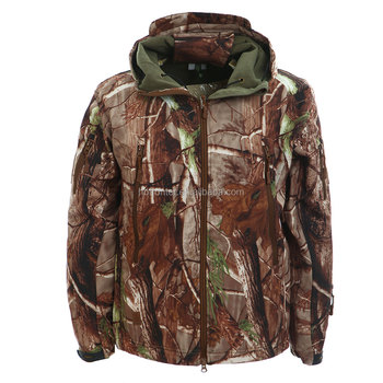 Realtree Camo warming soft shell jacket with Hoody