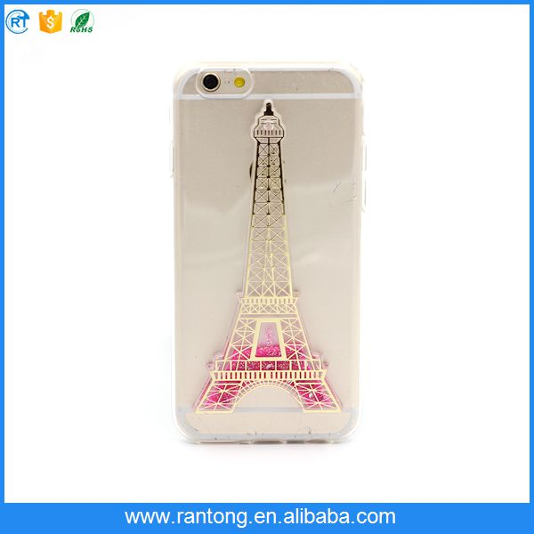 alibaba china market, new products Loose powder transparent phone case for iphone 5