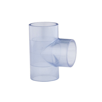 Transparent UPVC PVC Pipe Fitting Clear Equal Tee