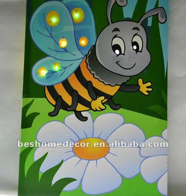 Cute Bee For Kids Wall Mounted Picture Light Modern Art Paintings Painting For Kids Buy Painting For Kids Wall Mounted Picture Light Modern Art