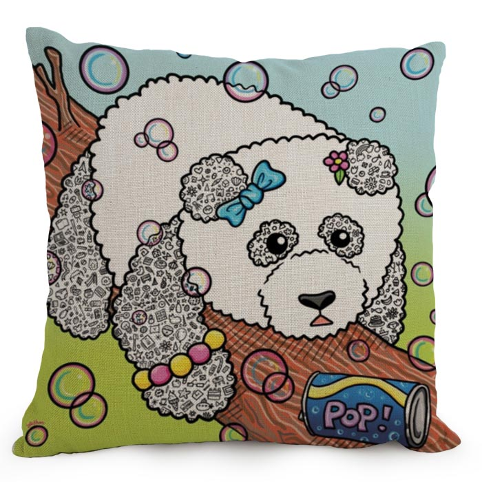 High quality custom design cute panda digital printed sofa couch decorative lumbar pillow cover