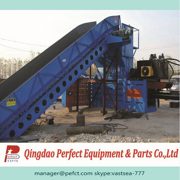 waste paper baling machine/waste paper and old cartons compressor machine