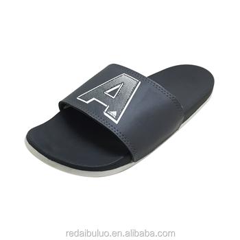 baea110426d2 Men Flat Slipper Slide Sandal Pu Men Slipper For Winter - Buy Men ...