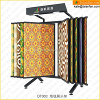 DT003---Top quality rug free standing carpet display