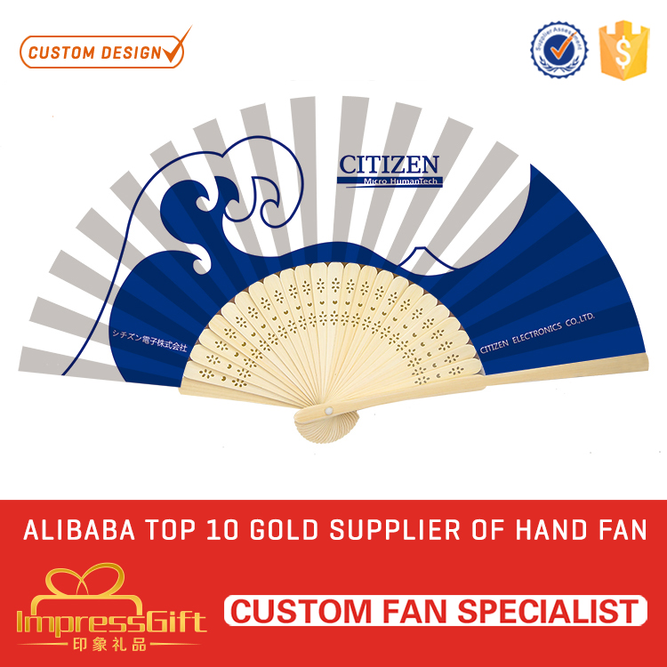 OEM printed chinese japanese silk folding hand fan at factory price