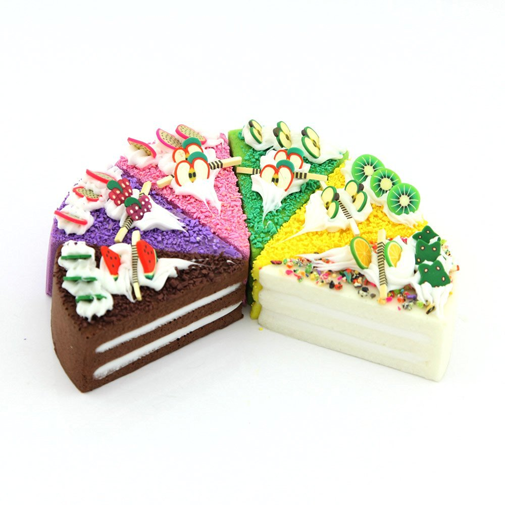 Owfeel PU Material Fake Cake Dessert Fridge Magnet Simulation Food Model Decoration Food Shop Sample Display Props Crafts