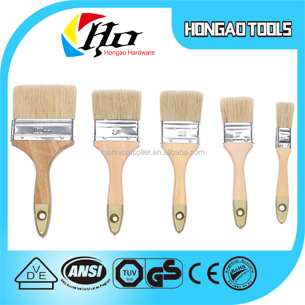 Lary high quality Laser Engraving wooden handle LPSM tarpered filament paint brush set