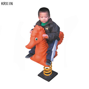 seahorse outdoor spring rocking horse for kids
