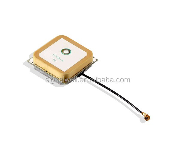 High performance Low noise figure GPS active microstrip antenna