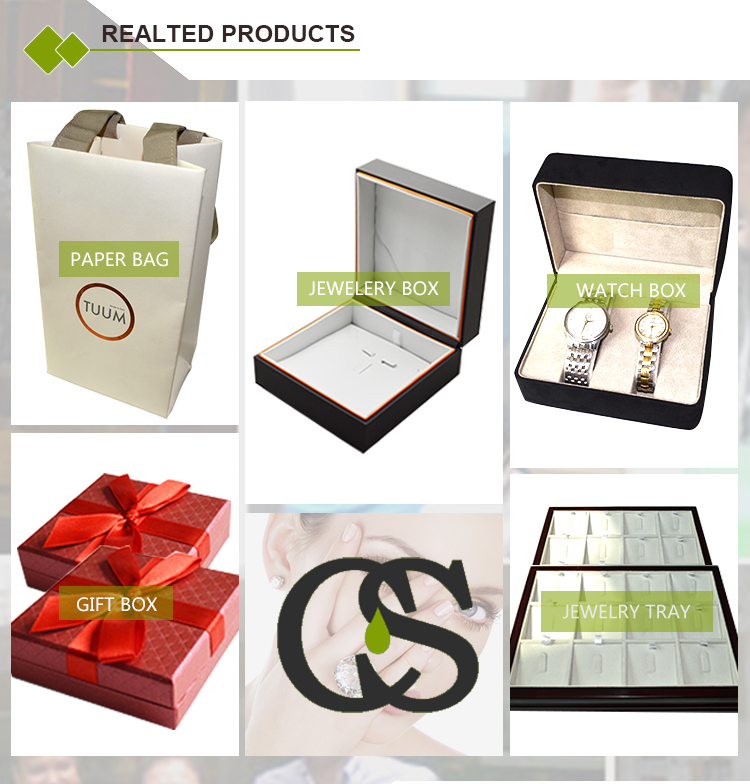 custom design gold line jewelry plastic double ring box with leatherette paper