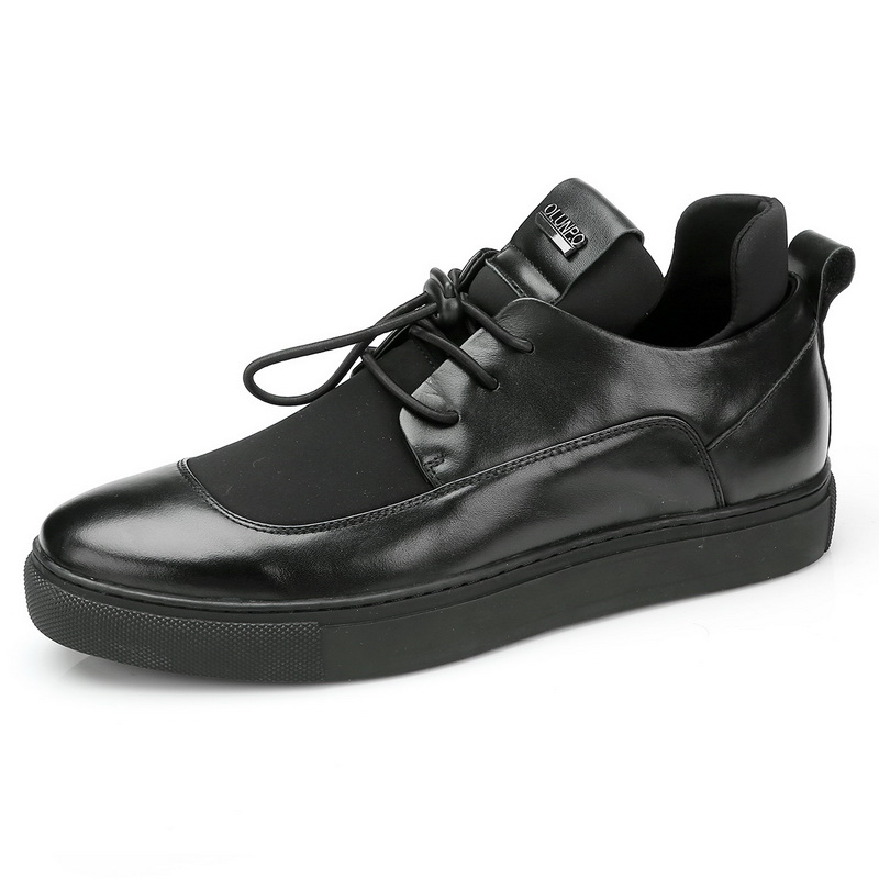 Leather Genuine LACE Premium Shoe Fashion UP Casual Leather Slipper Men's HwRqg