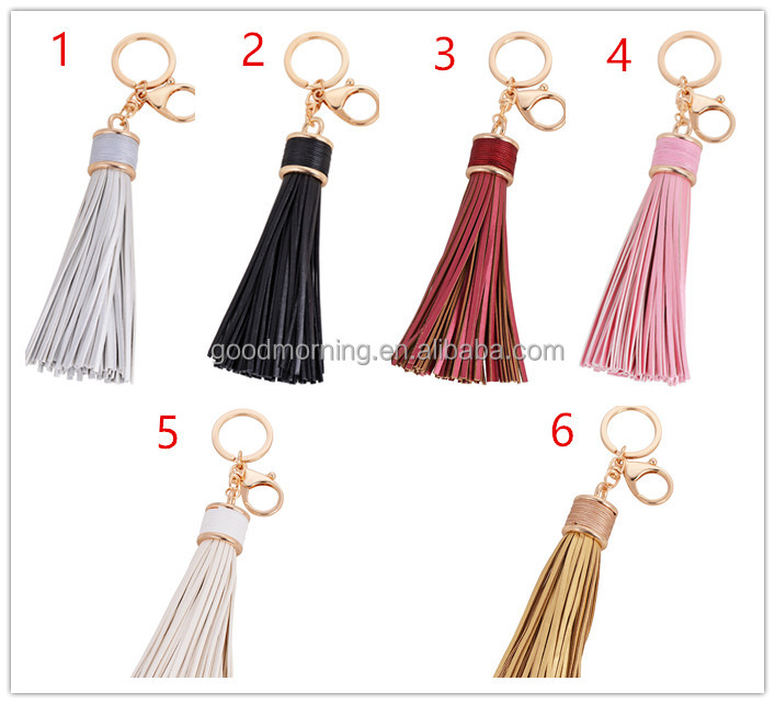 Promation Gift Leather Tassel Car Keychain