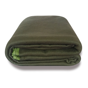 Top quality Olive Green army military fleece blanket