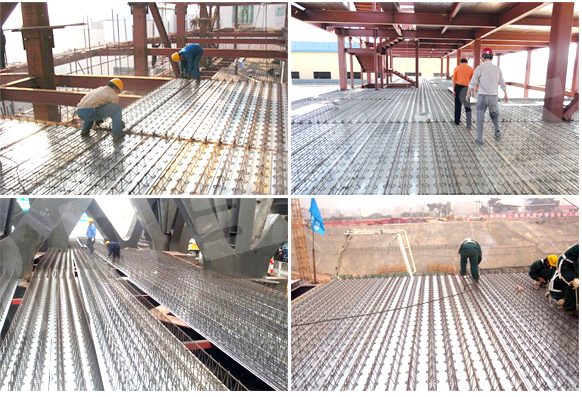 Bar Construction Materials : Wholesale steel floor deck truss plate construction