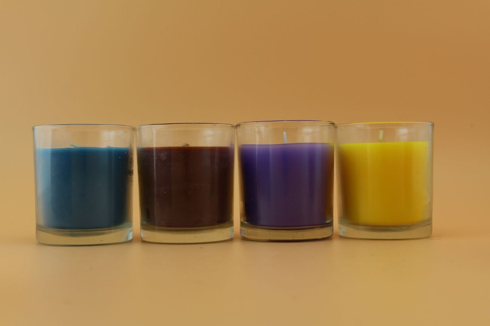 High Quality Classic Cheap Glass Multicolor Smokeless Scented glass jar candle