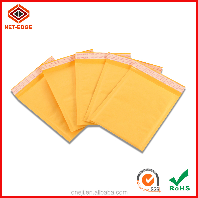hot sell customized high quality 4x8 Kraft paper bubble envelope