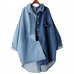 Denim Women's Shirts Blouses Tops Long Sleeve Loose Big Size Women Shirt Clothes 2019 Autumn Fashion Casual New