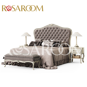 Luxury European Royal Style Furniture Simple Design Double Bed ...