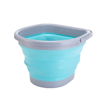 10L Square Circle Portable Folding Water Container Space Saving Bucket Collapsible bucket