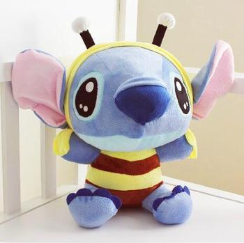 Kawaii Stitch Plush Toys Cute Lilo And Cosplay Bee Stuffed Doll S12cm 18cm Kids