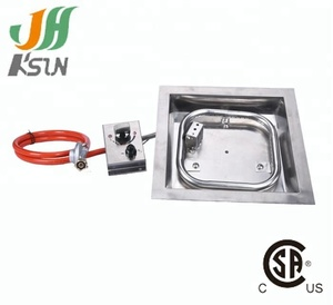 csa approved rectangle gas burner fire pit kit