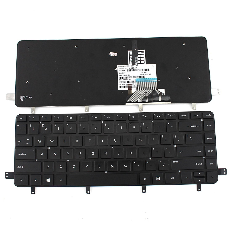 New Black US Laptop Keyboard for HP Spectre XT TouchSmart Ultrabook 15t-4000 15-4000 15-4001xx 15-4010nr 15-4011nr 15-4013cl Series P/N MP-11L23A0J698 PK130Q51A03