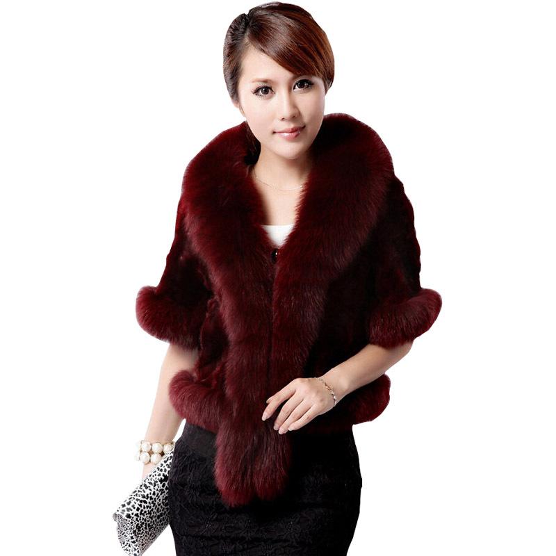e38462c2b1e7e Get Quotations · High quality Women Fur Cape Coat Faux Fur Coat 2015 Autumn  New Arrival Sweater Short Design