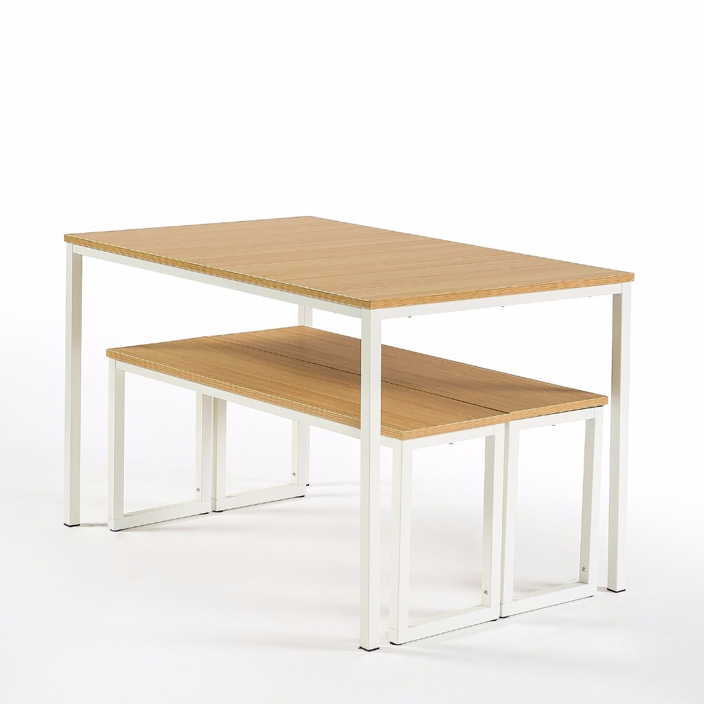 Modern Studio Collection Soho Dining Table with Two Benches