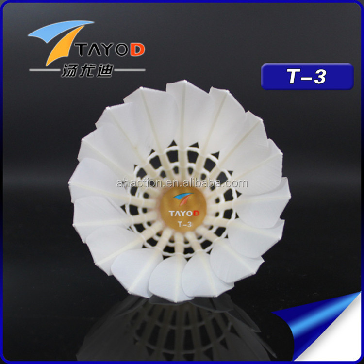 T-3 12x Professional Durable First Grade Badminton Shuttlecock for Training Match by Tayod