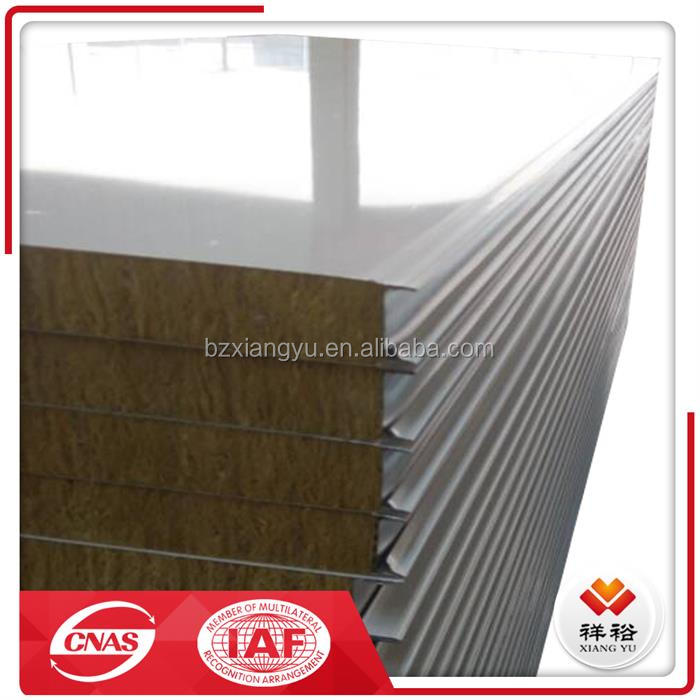 House prefabricated aluminum rockwool sandwich panel