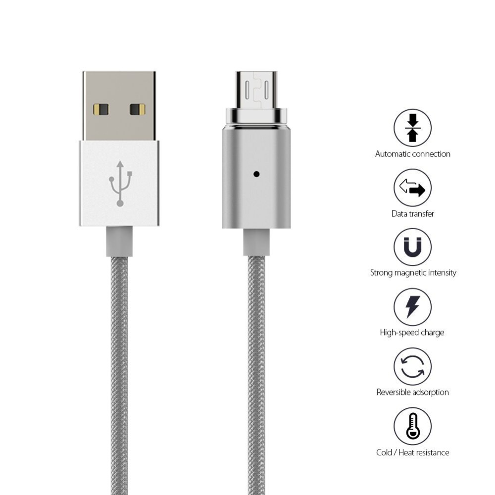 TDE 2 in 1 3 in 1 magnetic data transmision line braided type c magnetic absorption cable for iPhone Letv LG magnet charging cor